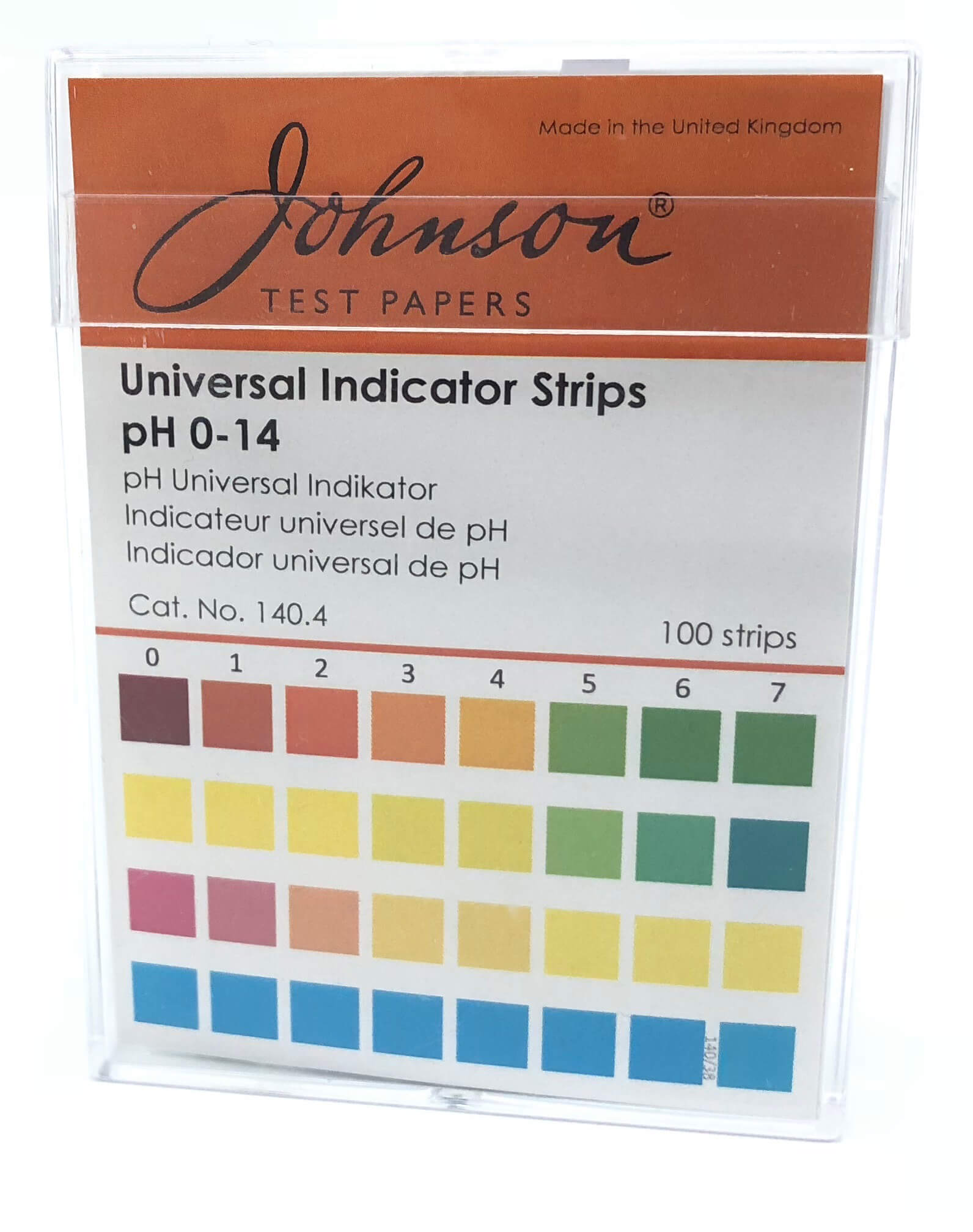 pH Indicator strips 1.0-14.0