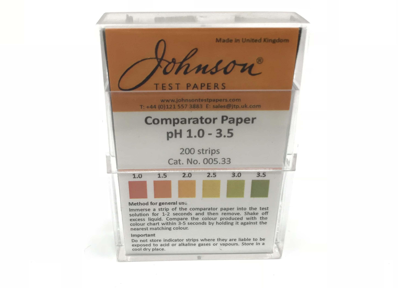Comparator Paper pH 1.0 - 3.5