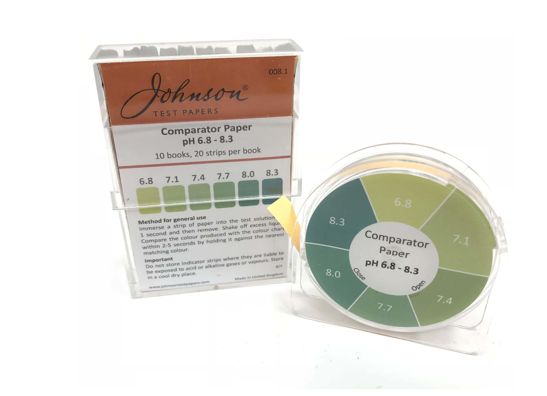 Comparator Paper pH 6.8 - 8.3