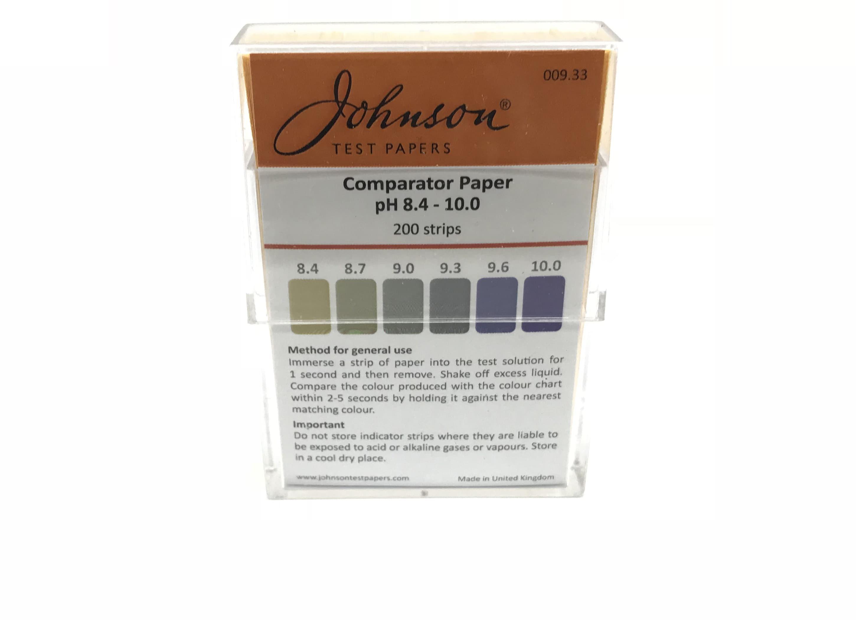 Comparator Paper pH 8.4 - 10.0