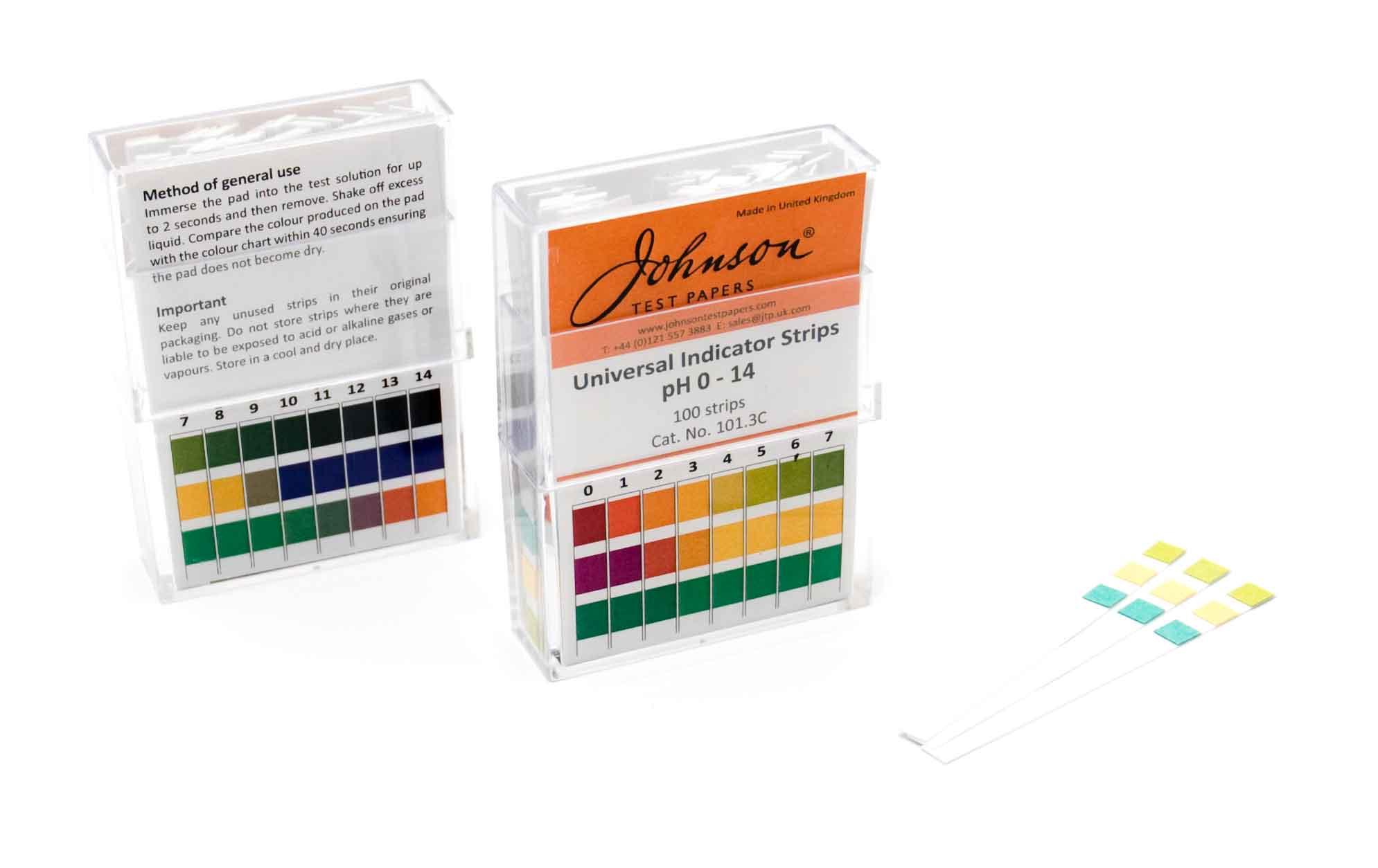 Universal Indicator strips, non-bleed